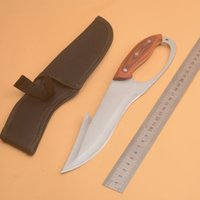 Knuckles Duster Fixed Blade Knife 3cr13mov Wood Handle Outdoor Hiking Hunting Survival Pocket Utility EDC Tools Rescue Diving Knifes Self Defense