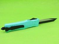 Tiffany Blue 7 pulgadas 616 MINI CUCHILLO TACTICO AUTOMÁTICO Cuchillo de aleación de aluminio de zinc 440C Blade 9 Estilo Disponible EDC Pocket Cuchillos