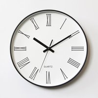 Wall Clocks Nordic Digital Luxury Clock Silent White Electronic Vintage Cute Reloj Pared Decorativo Home Decor QAB50WC