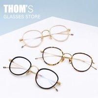 Thom Brand rétro alliage acétate lunettes cadre Hommes Femmes Vintage Verres ronds TB905 Myopie optique Opinal Opannyear lunettes de soleil