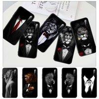 Man Lion Suit Shirt Tie Black Silicone Mobile Phone Case Cover For P9 P10 P20 P30 P40 Lite Pro P Smart 2019