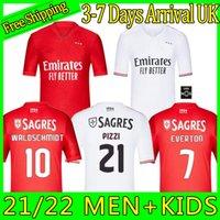 2021 2022 Benfica Soccer Jersey Home 21 22 Pizzi Rafa Seferovic Waldschmidt داروين Camisola دي فيوتول كرة القدم قميص الرجال الاطفال كيت زي