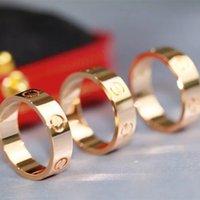 5mm 316L anello in acciaio in acciaio argento amore zircone uomini e donne rose anelli oro gioielli per gli amanti regalo di nozze coppia