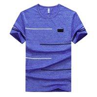 T-shirt manica corta da uomo estate casual casual asciugatura uomo kaki blu slim fit hip-hop top top tees dimensione m ~ 7xl 8xl 9xl t-shirt
