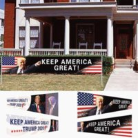 USA Stock Heep America Tolle Flagge 296x48cm Trump 2020 Präsidentschaftswahlen Banner Trump Kampagnenflagge DHL Versand GYQ