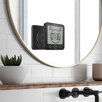 Termômetro impermeável Higrômetro Digital Banheiro Duche Wall Stand Clock Humidade Temperatura Temporizador Especial Temporizador Kitchen Timer