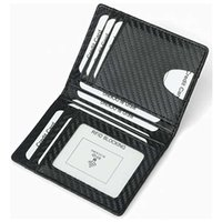 Holders carbon fiber Leisure Card Case Ultra thin driving certificate leather RFID antimagnetic card bag