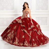 Celebrity Sukienki Dark Red Quinceanera Dresses with Caped Lace Applique Sequined Vestidos De 15 Anos Sweet 16 Corset Dress