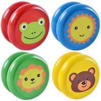 Lindas estampados de animales de madera Yoyo juguetes Ladybug Kids Yo-yo creativo YO Yo Juguetes para niños China China Yo Bola profesional