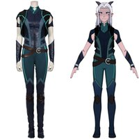 The Dragon Prince Cosplay Rayla Cosplay Costume Vest Pants Outfits Halloween Carnival Suit G0913