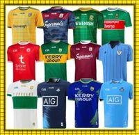 18-19 GAA Rugby Formalar Tipperary Galway Dublin Gömlek Kerry Tyrone Mayo Meath Jersey Eve 20 2021 S-3XL Üst