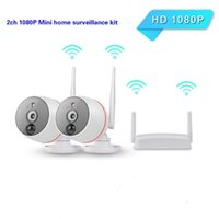2CH Mini NVR KIT 1080P PIR Indução Térmica WiFi IP Câmeras Auto Correspondência Internet P2P Surveilância Home Security Systems CCTV