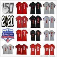 2021 NCAA Ohio State Buckeyes Джастин Поля Джерси № 1 ОСУ 2 Чейз Молодые JK Dobbins Elliott Bosa Teague 150th Fiesta Bower Футбол