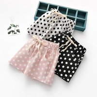 Shorts Girls Summer 2021 Kids Casual Pants Children Cotton Dot Clithes For Baby Beach Outfits 2-6T
