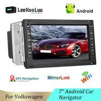 LeeKooLuu 2 Din Car Radio GPS Navigation Multimedia Player For VW BORA POLO MK3 4 PASSAT B5 Jetta Golf 4 T4 T5 Android Car Radio