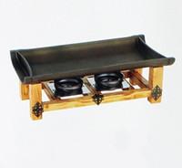 Strumenti BBQ non appiccicosi Piatti Pan Pan Corea Cucina giapponese Cucina Bamboo Flaps Barbecue Slib in alluminio Vassoio in ceramica