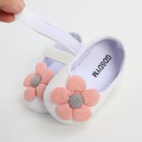GDSDYM Bebek Bebek Kız Ayakkabı, Çiçekler Bebek Mary Jane Flats Prenses Elbise Ayakkabı Yumuşak Yenidoğan Beşik Ayakkabı
