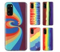 Arco-íris Color IMD TPU CASOS MACOS PARA SAMSUNG S21 PLUS S20 FE ULTRA NOTA 20 S10 A41 A51 A71 A21S A42 Moda Gel Colorido Capa de Telefone Celular