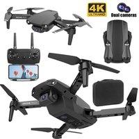 NUEVO E99 PRO2 Quadcopter Foldable RC Vuelo DRONE 4K HD DUAL CÁMARA WIFI FPV PROFESIONAL PROFESIONAL Fotografía Helicóptero Toys Regalo