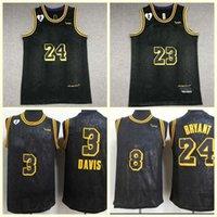 Basketball TrikotLosAngelesLakersLebronJames Black Mamba.BryantAnthonyDavis Swingmen-Trikots.