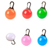 Dog Collars & Leashes Pet Night Safety LED Cat Collar Leads Lights Glowing Pendant Necklace Luminous Bright In Dark