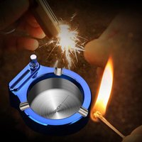 Mats & Pads Office Or Home Ashtray With Cotton Core Waterproof Portable Lighter Smoking Accessories Metal Key Chain