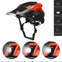 Cycling Helmets Light Helmet Intergrally-molded Sports Headlamp Bike Cap Mountain Road MTB USB Charging Bicycle Safe Men Women