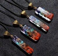 Orgone Energy Orgo Energy Pendant Spirit Arcade Crystal Semi Gem Stone Meditation Seven Chakra Pendant Handicraft Party Favor GWC6860
