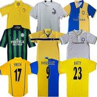 1972 1996 1997 Retro Leeds United Hasselbaink Soccer Jersey 72 77 78 95 96 97 98 99 00 01smith Kewell Hopkin Classic Ancient Tableau de football Vert Accueil Top blanc