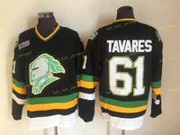 ChL London Knights Jerseys Vintage 61 John Tavares Jersey Black Men Stitched ccm Hockey Jerseys