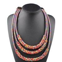 Chaokers 8 Couleurs La plupart des femmes Accessoires de bijoux Multi Couche Chaîne d'enroulement Perles Beads Bib Cuker Déclaration Neccklace pour la fête de mariage
