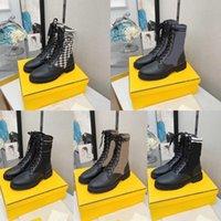 Дизайнерские женщины Rookoko Boots Боевая лодыжка высочайшее качество Мартин ботинок роскошный бренд кожаный байкер вязание растягивающих ткань обувь зимняя платформа Mid-Top Booties с коробкой