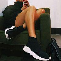 Sock shoes Casual Shoes Mulheres Homens Meia Sapatos de Caminhada Preto Branco Vermelho Speed Trainer Sports Sneakers Top Botas casuais sapato mens 36-47