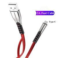 Typ C Kabel 3A Schnelles Ladezink-Legierung USB C-Kabel für S10 Xiaomi Micro USB-Kabel für Tablet Android-Telefondatenladekabel