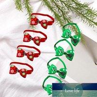 8 قطع الحيوانات الأليفة القوس التعادل عيد الميلاد تحت عنوان طوق قابل للتعديل bowknot شكل العلاقات زي اكسسوارات للكلب القط الملابس
