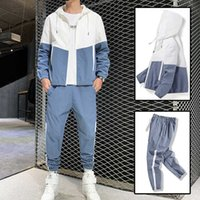 Hip-hop Suit Male 2021 Track Suits Sweatsuit Man Tracksuit Mens Pant Zipper Pockets Outwear 2PC Jacket+Pants
