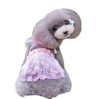 Dog Apparel Spring Summer Dress Lace Floral Embroidery Dresses S-XL Pet Clothes For Small Medium Dogs Cats Supplies Wholesale 40JA2