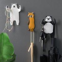 Kreativ tecknad djur krok söt husdjur svans böjbar rolig pvc mjukt gummi hem kylskåp dekoration sömlös klibbig