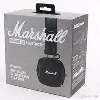Marshall Major III 3.0 2.0 Bluetooth Wireless Headphones عميق باس الضوضاء عزل سماعة اللاسلكية الرئيسية 3 فتيات هاي فتيات