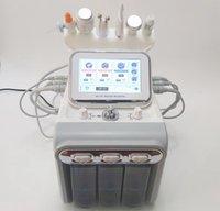 6 en 1 hidrodemabrasión clara profunda aqua máquina de peeling de chorro de oxígeno facial ultrasonido RF piel fregador frío martillo oxígeno pulverización de la piel cuidado de la piel
