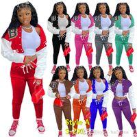 Designer Women Sweatsuit Set Tracksuits Giacche da caduta Autunno Due abiti Set Sport Joggers Pantaloni Baseball Sportswear Sportswear Jog Suit Var stili