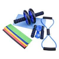 Atlama Halat Halat Egzersiz Direnç Bantları Fitness Egzersiz Dişli AB Rulo Tekerlek Seti Musel Eğitim Ekipmanları Ev Gym CrossFit
