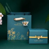 Gift Wrap Happy Birthday Paper Bag Exquisite Box Packaging Boxes For Party Favors Butterfly Wedding Cake Bomboniere Nascita 1pc
