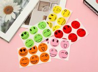 Summer daily pest control smiley face anti-mosquito stickers cartoon repellent tools 6 buckles random colors mild and safe EEB5691