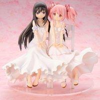 Anime Puella Magi Madoka Magica Akemi Homura Kaname Madoka Belle Statue Filles Figure jouets Q0722