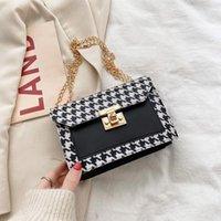 Shoulder Bags Women Retro Leather 2021 Fashion Hasp Chain Small Square Bag Ladies Mini Handbag Casual Crossbody Messenger