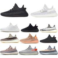 Kanye west Yeezy 350 V2 Running shoes Static Reflective Manteiga Negra Branco Breds Oreos Sports Sneakers Tamanho 36-47
