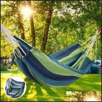 Lager und Wandern Sport OutdoorsCamp Möbel Tragbare Leinwand Hängematte Reisen im Freien Picknick Holz Swingstuhl Nocken Hängende Bett Garten