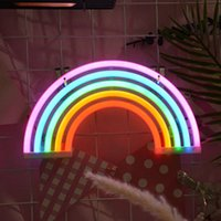 40# Usb Battery Powered Creative Led Neon Light Sign Rainbow Lamp For Party Wedding Bedroom Home Decor Night Lamp Decor