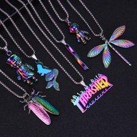 Хип-хоп Гасители кулочки Ожерелье для мужчин Подросток Космонавт Русалка Ожерелья очки с цепью из нержавеющей стали